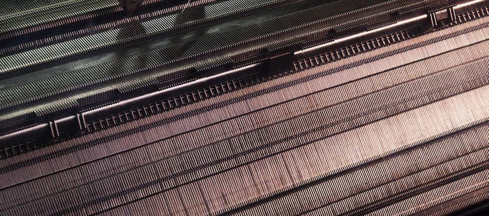 frontura macchina rettilinea per maglieria calata